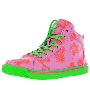 Iron fist size 5 neon high top sneaker
